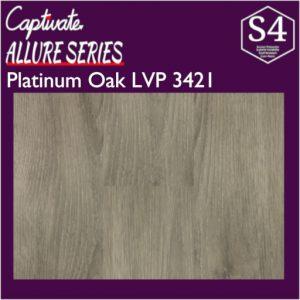 Captivate Flooring Allure Series Platinum Oak LVP 3421