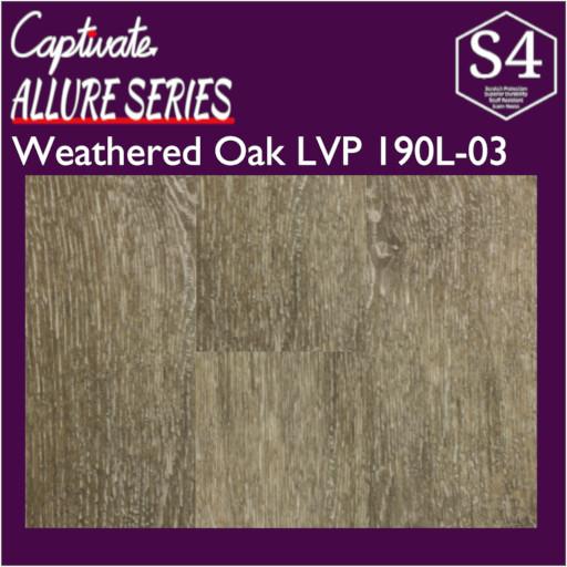 Captivate Flooring Allure Series Weathered Oak LVP 190L-03